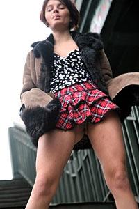 Miss naked upskirt